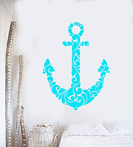 Vinyl Wall Decal Abstract Anchor Sea Ocean Sailor Stickers 2324