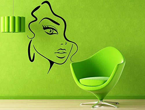 Vinyl Decal Wall Sticker Luxurious Beauty Sexy Girl Beauty Salon Decor 570