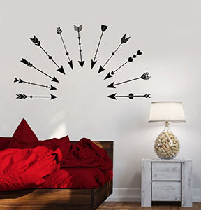 Vinyl Wall Decal Love Arrows Cupid Romance Ethnic Style Stickers 1714