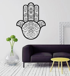Wall Vinyl Sticker Decal Hamsa Amulet Mascot Talisman Protection Hand 2082