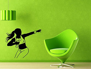 Vinyl Decal Wall Sticker Pilates Sport Healthy Lifestyle Fitness Woman 1997