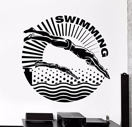 Vinyl Wall Decal Swimmer Water Sport Swimming Pool Stickers 829