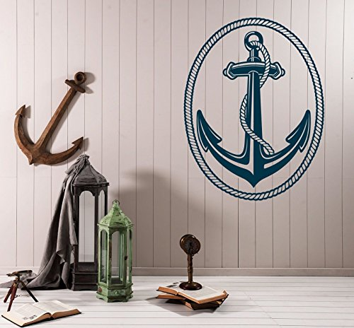 Vinyl Decal Wall Sticker Nautical Marine Sailing Anchor and Rope n669