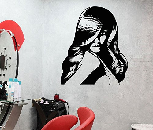 Vinyl Wall Decal Hair Salon Barbershop Beauty Hairstyle Stickers Mural 619