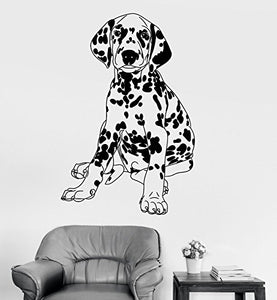 Vinyl Wall Decal Dalmatian Pedigree Dog Pet Shop Vet Clinic Stickers 832