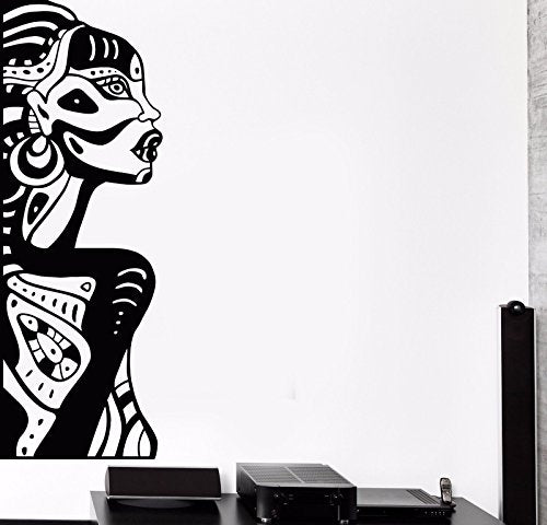 Vinyl Wall Decal Ethnic African Woman Decor Black Lady Stickers 757