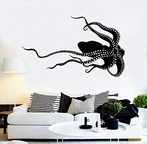 Vinyl Wall Decal Octopus Monster Sea Animals Poulpe Stickers 1019