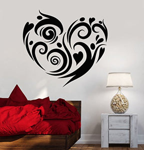 Vinyl Wall Decal Heart Love Romance Bedroom Decor Stickers 1085