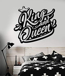 Vinyl Wall Decal Logo King and Queen Crown Words Graffiti Stickers 2140