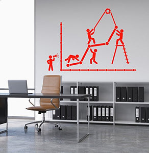 Vinyl Wall Decal Graphic Office Worker Business Leader Teamwork Stickers 1970ig