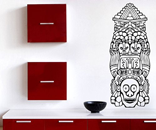 Lagre Vinyl Wall Sticker North American Totem Poles n724