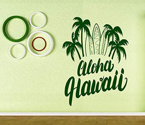Vinyl Wall Stickers Aloha Hawaii Lettering Surf Poster n694