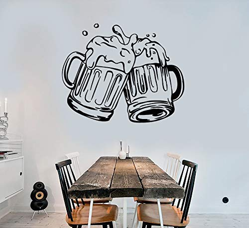 Vinyl Wall Decal Mugs of Beer Pub Alcohol Bar Stickers 2081