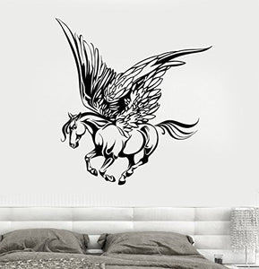 Vinyl Wall Decal Fairy Tale Pegasus Wings Muse Fantasy Animal Stickers 1813
