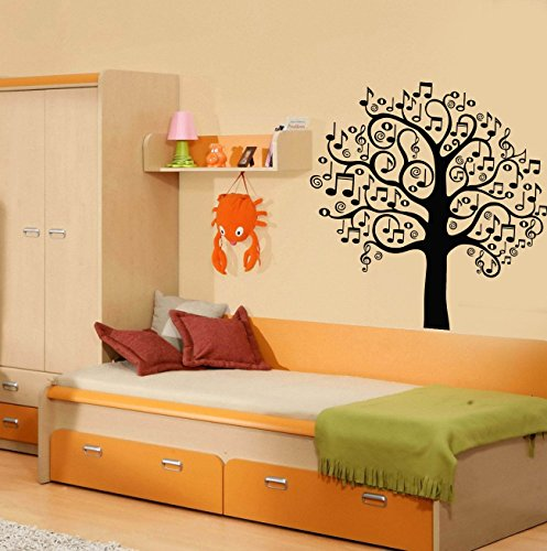 Vinyl Wall Decal Musical Tree Music Art Decor Home Decoration Stickers 141