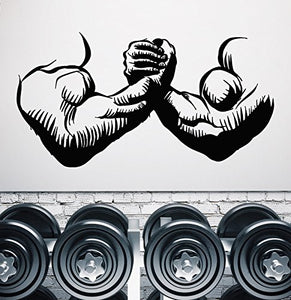 Vinyl Wall Decal Gym Muscles Man Hands Bodybuilder Beautiful Body Sticker 1728ig