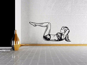 Vinyl Decal Wall Sticker Fitness Body Girl Gym Sport Workout Fitness n526
