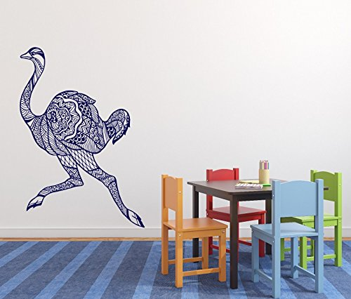 Vinyl Decal Wall Sticker Runnihg Ostrich Funny Animal for Kids Room n655