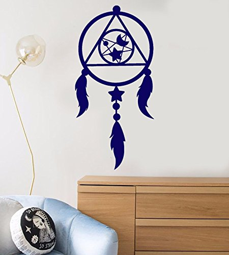 Vinyl Wall Decal Dreamcatcher Moon Star Feathers Nursery Stickers 597