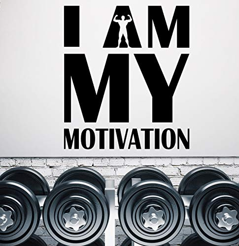 Vinyl Wall Decal Words I Am My Motivation Quote Sport Stickers 2293