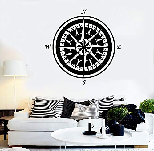 Vinyl Wall Decal Marine Nautical Compass Rose Sea Style Stickers 1460