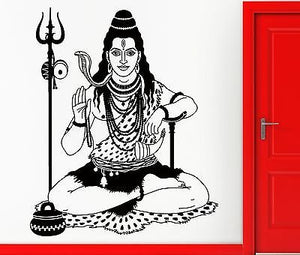 Wall Sticker Vinyl Decal India Indian God Hinduism Cool Decor z2419