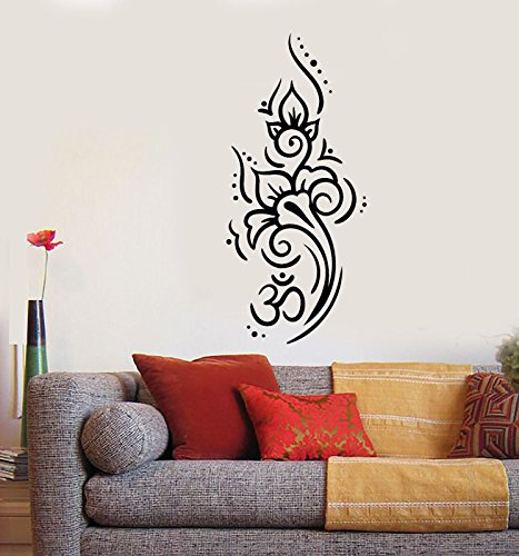 Vinyl Wall Decal Om Mantra Yoga Meditation Room Decor Stickers 2509