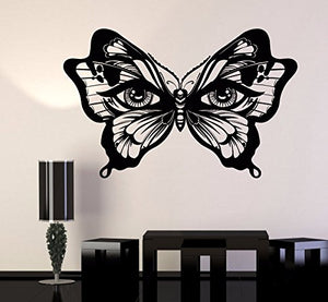 Vinyl Wall Decal Butterfly Insect Women's Eyes Art Decor Stickers 1090