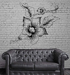 Peony Asian Flower Love Symbol Floral Bouquet Wall Mural Vinyl Art Sticker M610