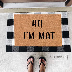"Oh shit not you again Style 2 Funny Natural Coir Door Mat 24""x35"""