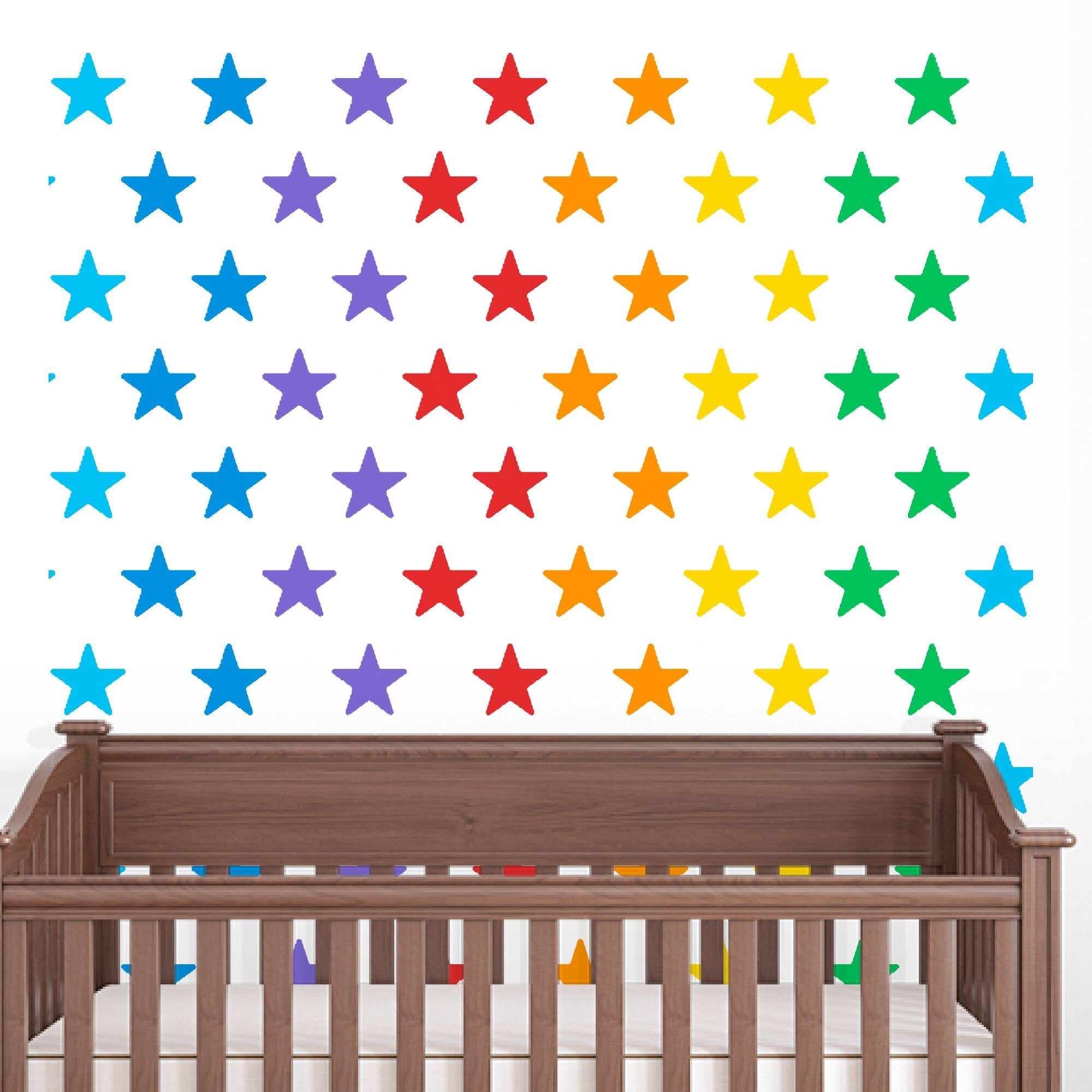Fabric  Watercolor Stars Removable re-positionable wall decals stickers