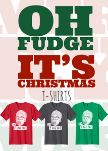 Ralphie Oh Fudge A Christmas story screen printed t-shirt