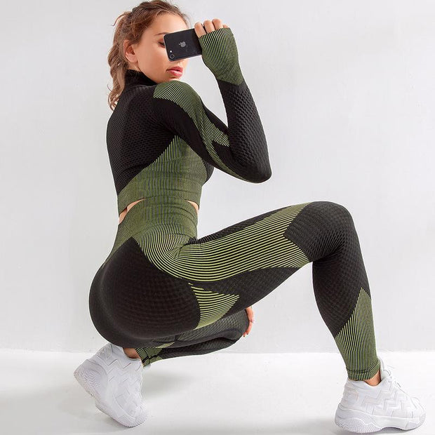 Round House 2pc/Set (Bottoms + Long Sleeve Top) - Dolton active wear
