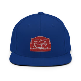 Friendly Confines Flat Bill Snapback Hat