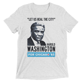 Washington for Mayor '83 Premium Tri-Blend T-Shirt