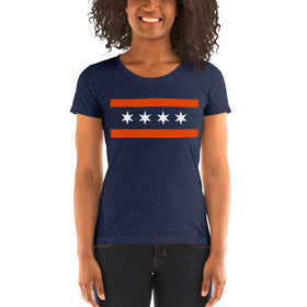 Football Flag Ladies' Premium Tri-Blend T-Shirt