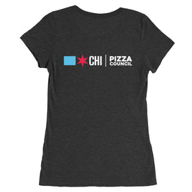 Tavern Style Pizza Ladies' Premium Tri-Blend T-Shirt