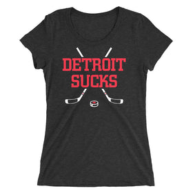 Detroit Sucks Ladies' Premium Tri-Blend T-Shirt