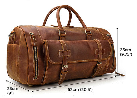 Elwood Crazy Horse Leather Travel Duffle Bag