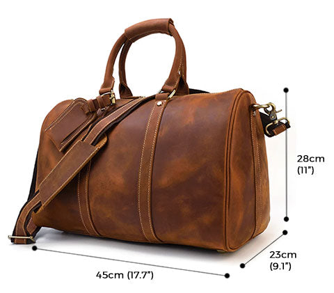 Monarch Crazy Horse Leather Duffle Bag