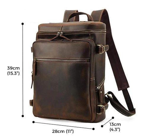Pearson Crazy Horse Leather Backpack