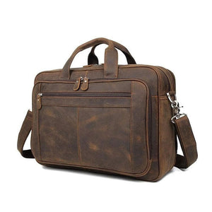 Bowron Crazy Horse Leather Briefcase - Chilco Leather