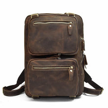 Load image into Gallery viewer, Bulkley Crazy Horse Leather Daul-Pocket Backpack - Chilco Leather