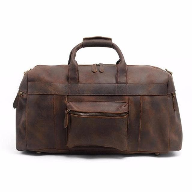 Cascade Crazy Horse Leather Duffle Bag - Chilco Leather
