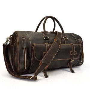 Ellwood Retro Full Grain Leather Travel Duffle Bag - Chilco Leather