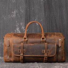 Load image into Gallery viewer, Ellwood Retro Full Grain Leather Travel Duffle Bag - Chilco Leather