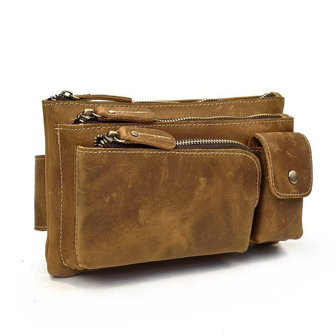 Fletcher Crazy Horse Leather Waist or Chest Bag - Chilco Leather