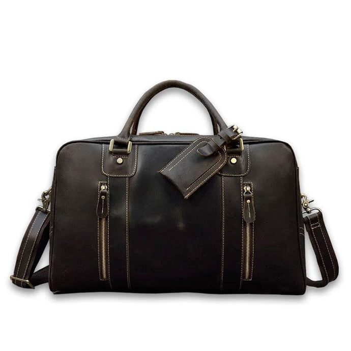Hartley Crazy Horse Leather Travel Bag - Chilco Leather