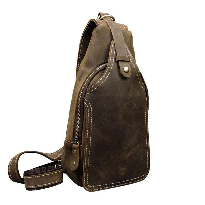 Hayes Crazy Horse Leather Crossbody Bag - Chilco Leather