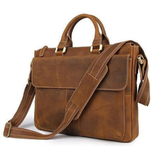 Load image into Gallery viewer, Holberg Classic Style Crazy Horse Leather Briefcase - Chilco Leather